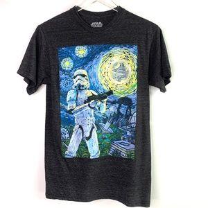 STAR WARS Stormtrooper Starry Night T-shirt #KK5